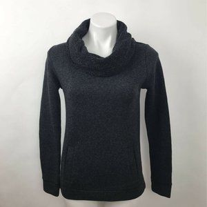 J.Crew Pullover Sweater Gray Cowl Neck Pockets XS